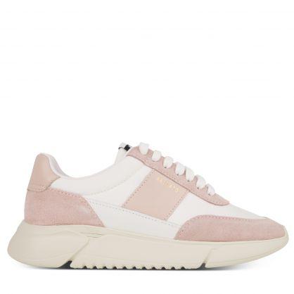 White/Pink Genesis Vintage Runner Trainers
