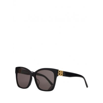 Black Adjusted Fit Square Sunglasses