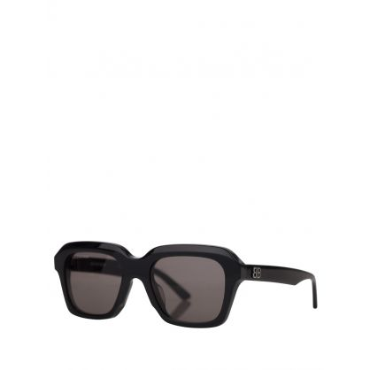 Black Power Rectangle Sunglasses