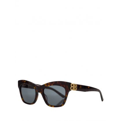 Brown Adjusted Fit Dynasty Cat Sunglasses