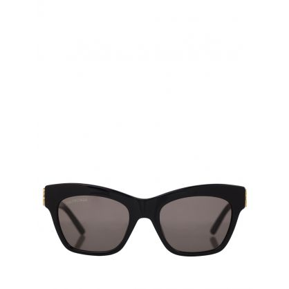 Black Adjusted Fit Dynasty Square Sunglasses