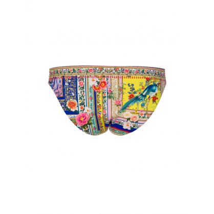 Party In The Palace Ruched Tie Bikini Bottoms