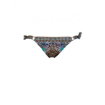 Animal Army Ring Tie Side Bikini Bottoms