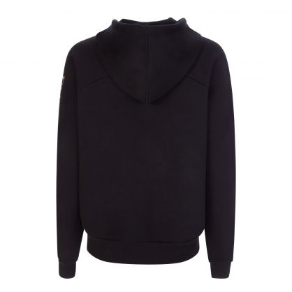 Black Logo Sleeve Zip-Through Lounge Hoodie