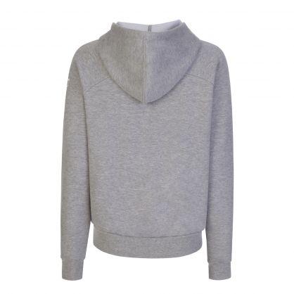 Grey Logo Sleeve Zip-Through Lounge Hoodie
