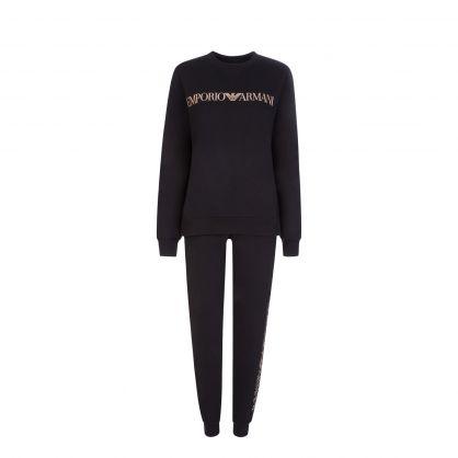 Black 2-Piece Loungewear Tracksuit