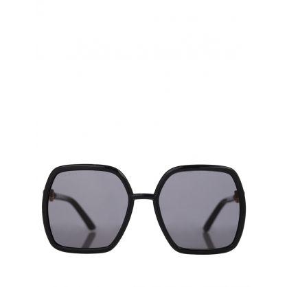 Black and Grey Square Frame Sunglasses