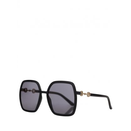 Black and Grey Square Frame Sunglasses