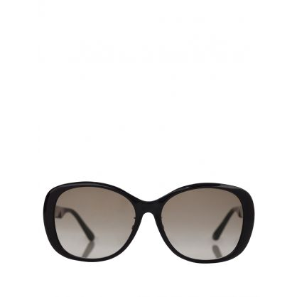 Black Square Web Sunglasses