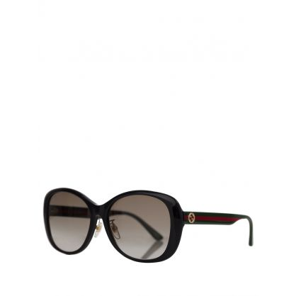 Black Square Web Sunglasses