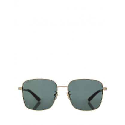 Gold Square Frame Sunglasses