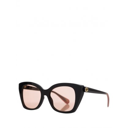 Black/Pink Cats Eye Sunglasses
