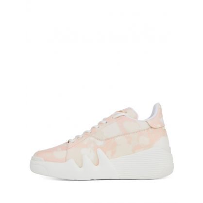 White/Beige Tie-Dye Effect Talon Trainers