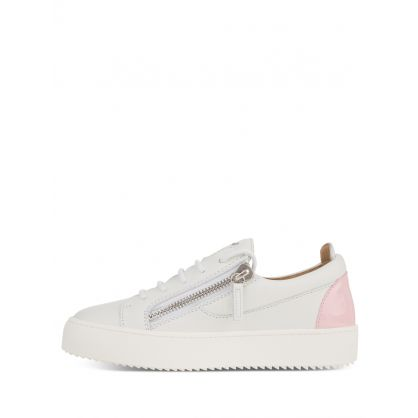 White Pink Heel Signature Trainers