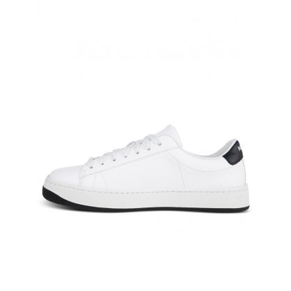 White Leather Kourt K Logo Trainers