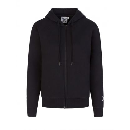 Black Cross Logo Hooded  Zip-Through