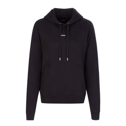 Black Relaxed-Fit Phoenix Popover Hoodie