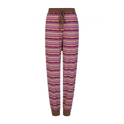 Purple Striped Sweatpants