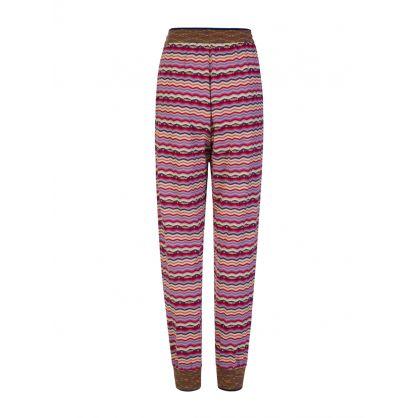 Purple Striped Sweatpants