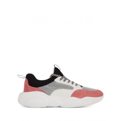 White/Pink Teddy Trainers