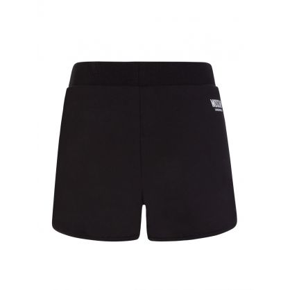 Black Logo Tape Shorts