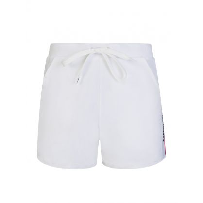 White Tape Logo Shorts