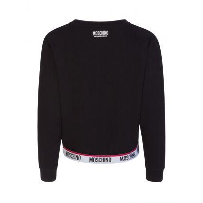 Black Logo Tape Crewneck Sweatshirt