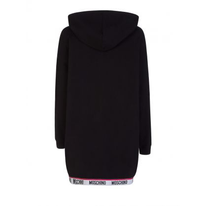 Black Tape Logo Hooded Dress