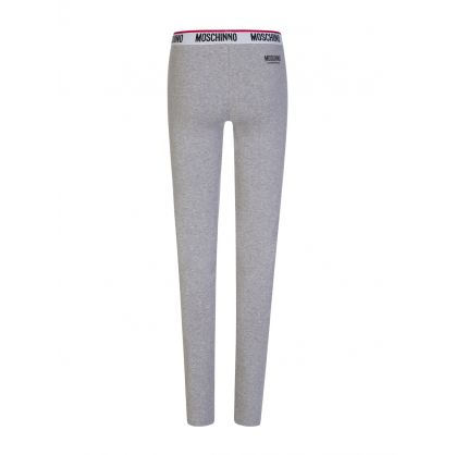 Grey Logo Tape Leggings
