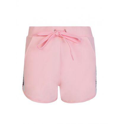 Pink Logo Tape Shorts