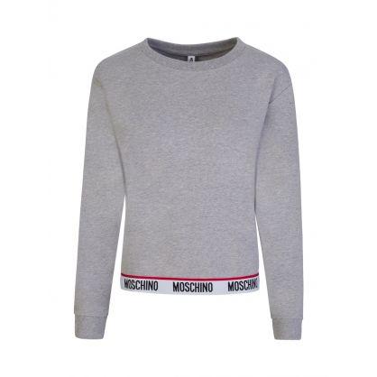 Grey Logo Tape Crewneck Sweatshirt