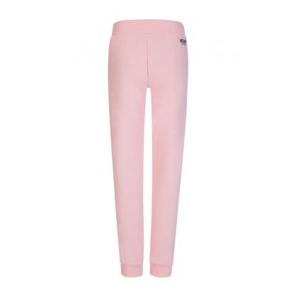 Pink Logo Tape Sweatpants