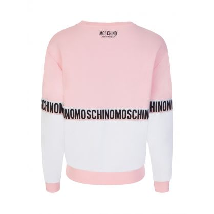 Underwear Pink/White Colourblock Sweatshirt