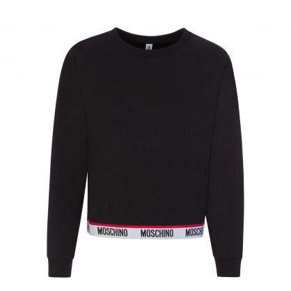 Black Underwear Popover Sweatshirt