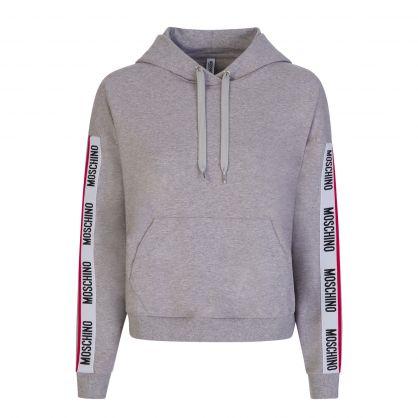 Grey Underwear Logo Tape Popover Hoodie