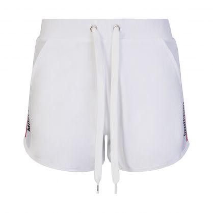 White Underwear Logo Tape Shorts