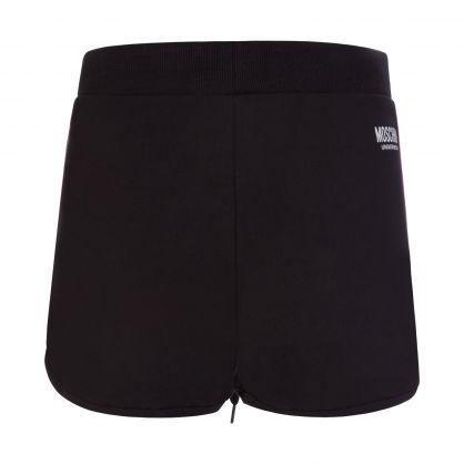 Black Underwear Logo Shorts