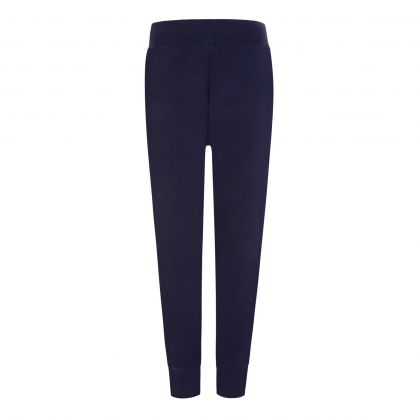Navy Cotton-Blend Sweatpants