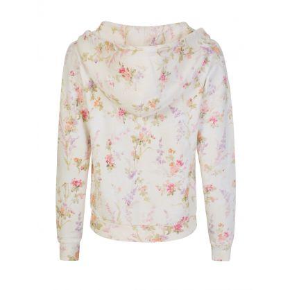 Floral Fleece Hoodie