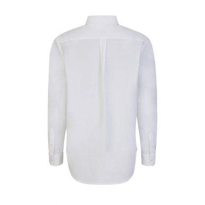 White Relaxed Oxford Shirt