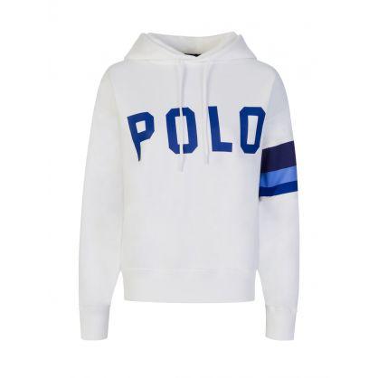 White POLO Colour-Block Sleeve Hoodie