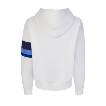 White POLO Colour-Block Sleeve Hoodie