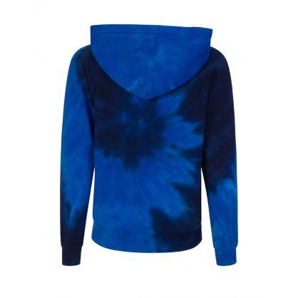 Blue Tie Dye Hoodie