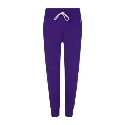 Purple Logo Fleece Sweatpants