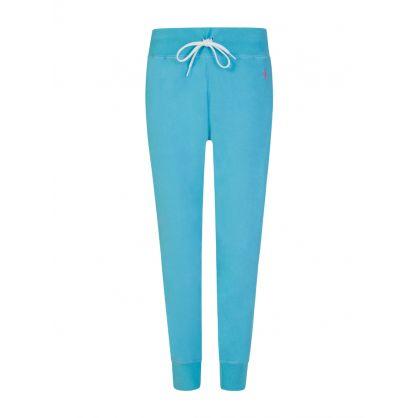 Turquoise Logo Fleece Sweatpants