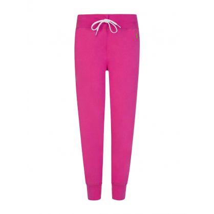 Pink Logo Fleece Sweatpants
