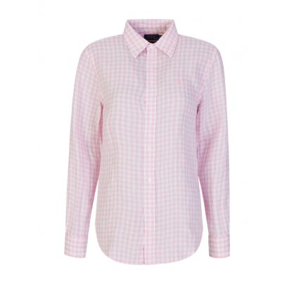 Pink/White Gingham Linen Shirt