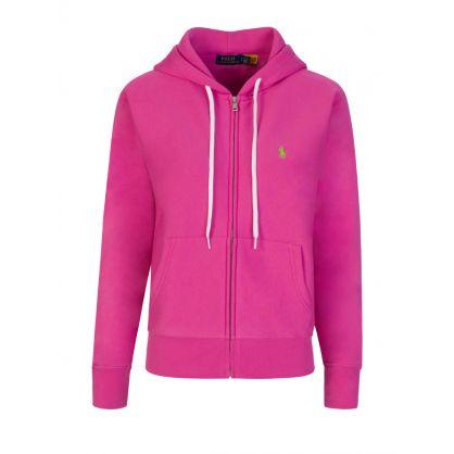 Pink Fleece Zip-Through Hoodie