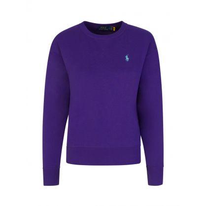 Purple Fleece Sweatshirt