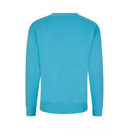 Turquoise Fleece Sweatshirt